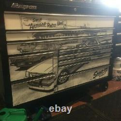 Snap Sur 55 Black Tool Box Roll Cab A Haut Blindé Noir, Tiroir Latéral Et Armoire