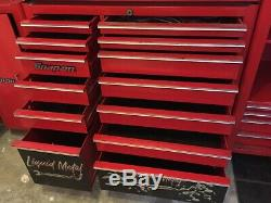 Snap-on Boîte À Outils 13 Tiroirs Cabinet Rouleau 40 Rouge