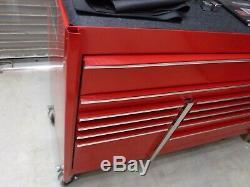Snap-on Krl722 Double Roulement Cabinet Banque 11 Tiroirs Outil Rouge Coffre Krl722bpbo