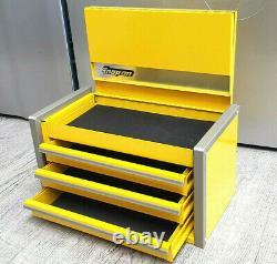 Snap-on New High Viz Yellow Mini Upper Top Tool Box Tiroirs Base Cabinet Chrome