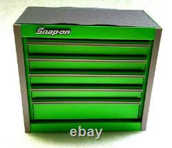 Snap-on Nouveau Green Mini Bottom Tool Box 5 Tiroirs Base Cabinet Chrome Trim Micro