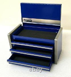 Snap-on Nouveau Royal Blue Miniature Mini Haut Supérieur Boîte À Outils Tiroirs Petit Cabinet