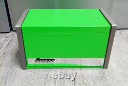Snap-on Nouveau Vert Mini Haut-top Boîte À Outils De Base Tiroirs Cabinet Chrome Garniture Micro