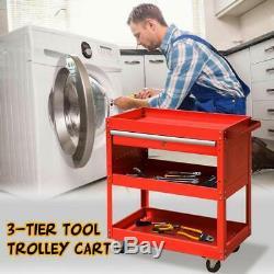 Steel Rolling Outil Panier Service Shop Armoire De Rangement Organisateur Tiroir Verrouillable
