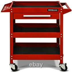 Tool Rolling Cart Mechanics Toolbox Tools Organizer With Wheels Drawer Shelves