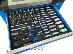 Tool Trolley Cabinet 7 Tiroir Avec Outils Atelier De Rangement Coffre Boîte À Outils