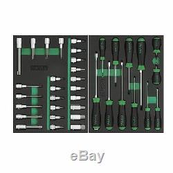 Toptul Professional 279 Piece Tool Kit Avec Armoire À Outils 7 Rouleau Tiroir