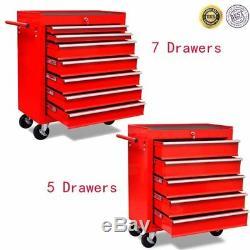 Trolley D'atelier Sur Des Tiroirs En Acier Du Cabinet 5/7 De Coffre De Stockage De Garage De Roues