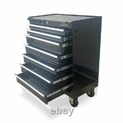 Us Pro Black Tools Affordable Steel Chest Tool Box Roller Cabinet 7 Tiroirs Nouveau