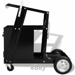 Vidaxl Chariot De Soudage Avec 4 Tiroirs Organisation Outil Noir Armoire De Rangement