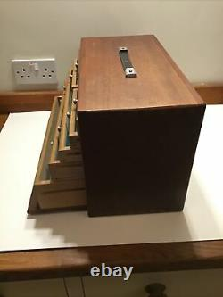 Vintage 7 Drawer Engineers Wooden Tool Chest Top Box Cabinet Par Union