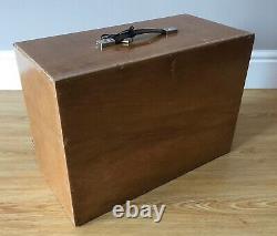 Vintage 8 Tiroir Tool Box Ingénieurs Horloger Lockable Coffre En Bois / Armoire