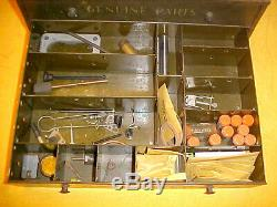 Vintage Collection Des Pièces D'origine De Service Carburateur Armoire À Outils 2 Tiroirs Boîte