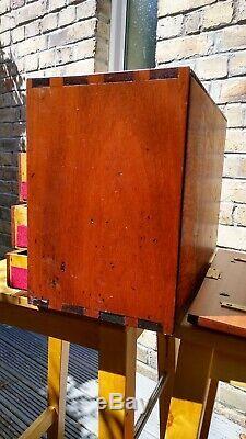 Vintage Des Années 1940 Outilleurs Cabinet / Ingénieurs Coffre À Outils. 5 Tiroirs