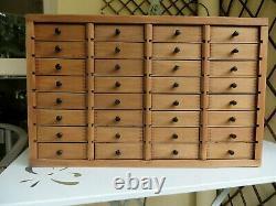 Vintage Horlogers Collectors Cabinet Tiroirs Engineers Boîte À Outils Coffre Cas De