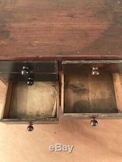 Vintage Horlogers, Ingénieurs, Collectionneurs, De Table Tiroirs Armoire À Outils