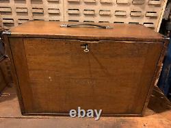 Vintage Moore & Wright 8 Tiroirs Boîte À Outils Toolmakers Ingénieurs / Cabinet M & W