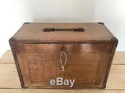 Vintage Moore & Wright 8 Tiroirs Engineers Coffre À Outils Cabinet Box Avec Lock & Key