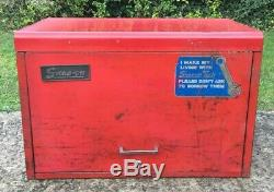 Vintage Snap-on 9 Outil Tiroir Boîte Cabine Boîte, Kra-59c Coffre À Outils Cabinet Top Box