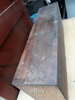 Vtg Antique Bureau De Poste Armoire Thoracique 16 Tiroirs Ou Ingénieur / Charpentiers Boîte À Outils