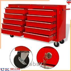 XXL Atelier Rangement Chariot 10 Outil Tiroir Boîte Cabinet Chariot De Service Coffre À Outils