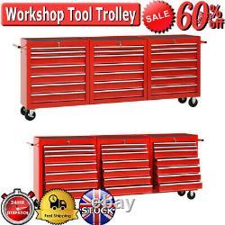 XXXL Workshop Tool Trolley Avec 21 Tiroirs Boîte De Rangement Armoire Service Cart Tool