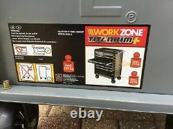 Zone De Travail Roller Outil Armoire Rangement Coffre Boîte 6 Tiroirs Garage Atelier Black