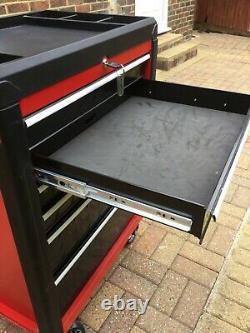 Zone De Travail Roller Outil Armoire Rangement Coffre Boîte 6 Tiroirs Garage Atelier Rouge